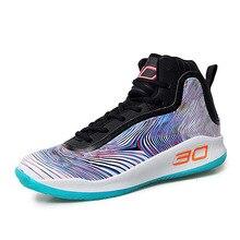 Новинка; мужские баскетбольные кроссовки с высоким вырезом; дышащие Нескользящие износостойкие кроссовки на шнуровке; Уличная обувь для бега и ходьбы