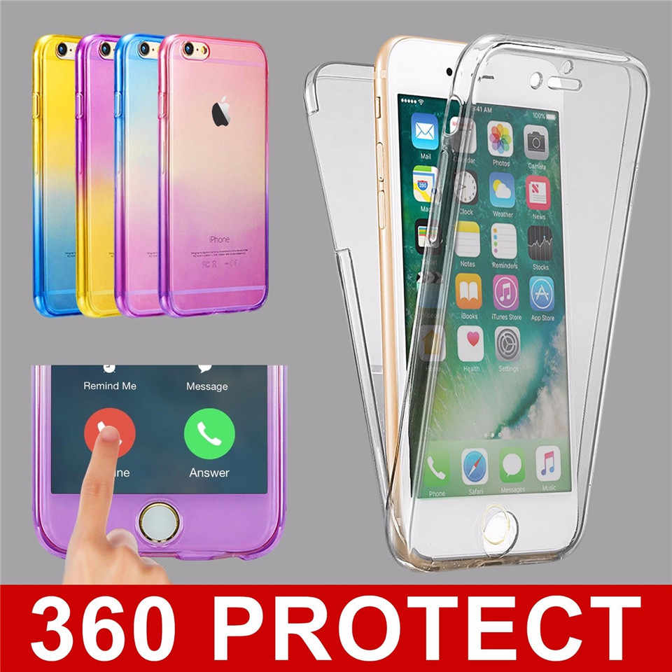 360 Twilight Rainbow TPU Case For iphone 8 Plus Transparent Cover For iphone8 SE 5 5s 6 6s 7 Plus Phone Cases Crystal Silicone