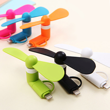 Mini ventilador USB portátil de 5V para teléfono Samsung, Xiaomi, Android, IPhone 5, 6, 6s, 7 Plus