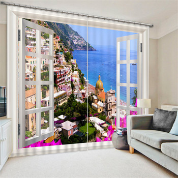 Luxury Blackout 3D Window Curtains For Living Room Bedroom nature scenery landscape curtains Blackout curtain