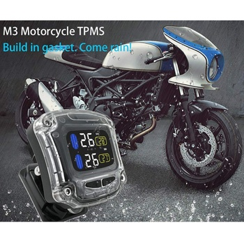 M3 Tire Pressure Monitoring System TPMS Wireless Tire Pressure Monitoring Motorcycle Tires Motor Fatbike Bicycle Auto Tyre Alarm