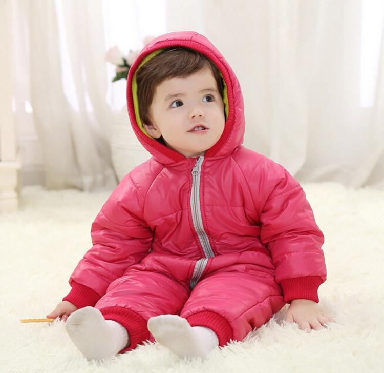 9-24Months Baby Winter Clothes Girl Boy Romper Warm Russian Baby Winter Jumpsuit Skiing Outerwear Clothing Colorful Snowsuit (12)