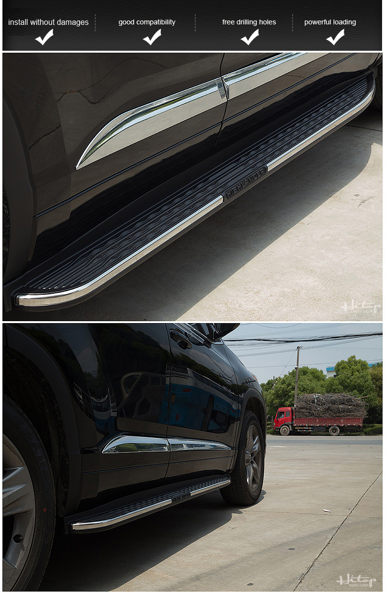 Aliexpress com buy hot side step bar running board for toyota highlander 2015 2016 2017 most popular style in china hitop suv experiences 5years from