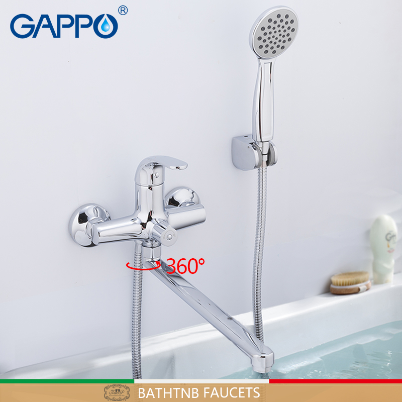GAPPO Bathtub Faucet bathroom rainfall shower faecet single handle bath mixer taps wall mounted robinetterie salle