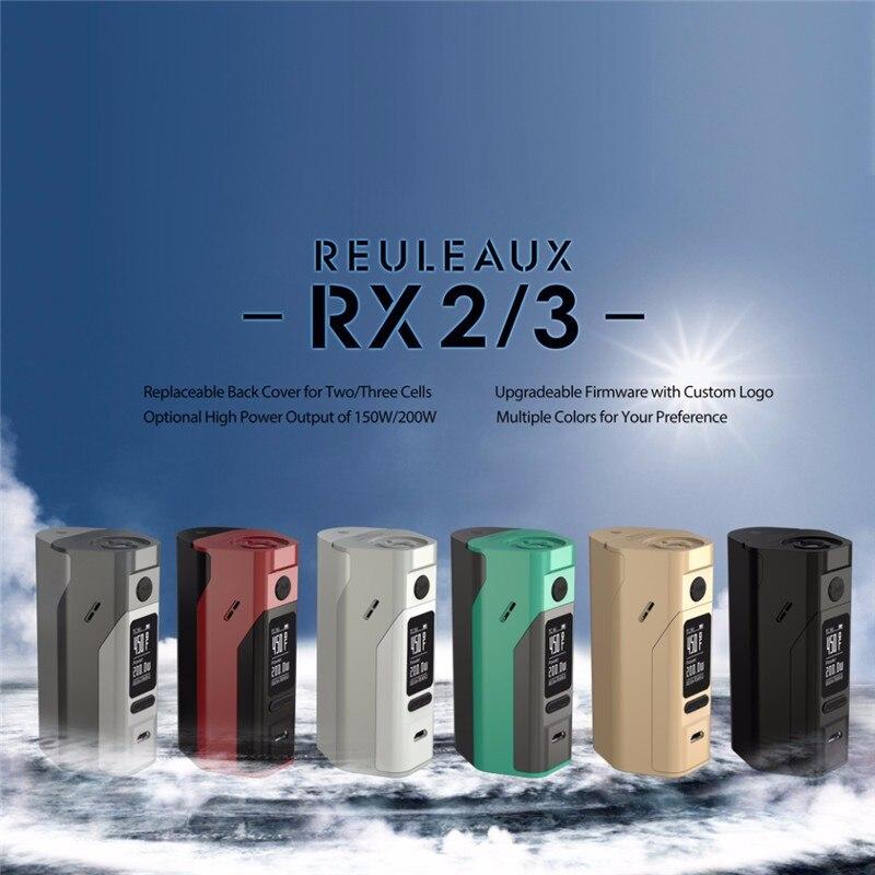 ФОТО 100% Original Wismec Reuleaux RX2/3 TC 150W/200W Box Mod Upgradeable Firmware Reuleaux RX2 3 TC RX23 Mod VS RX200S