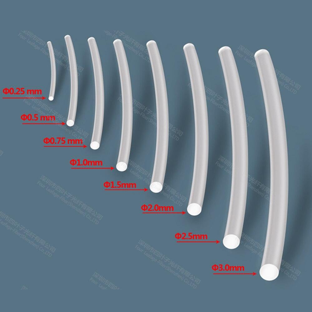 Метр распродажа 3 мм высокая рабочая температура pmma волоконно-оптический конец светящийся кабель Оптическое волокно для освещения