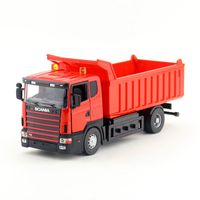 JOYCITY 1 43 Scale Diecast Model SCANIA Dumper Truck Toy Educational Collection Gift For Children Engineering