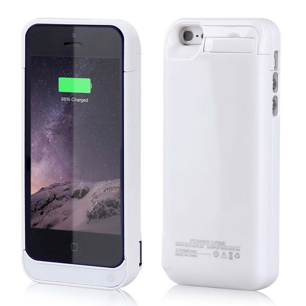 4200Mah For Iphone 5 5S Backup Battery Safety Shell For Iphone5 5S Se 5C Energy Financial institution Case Telephone Exterior Battery Pack Backup