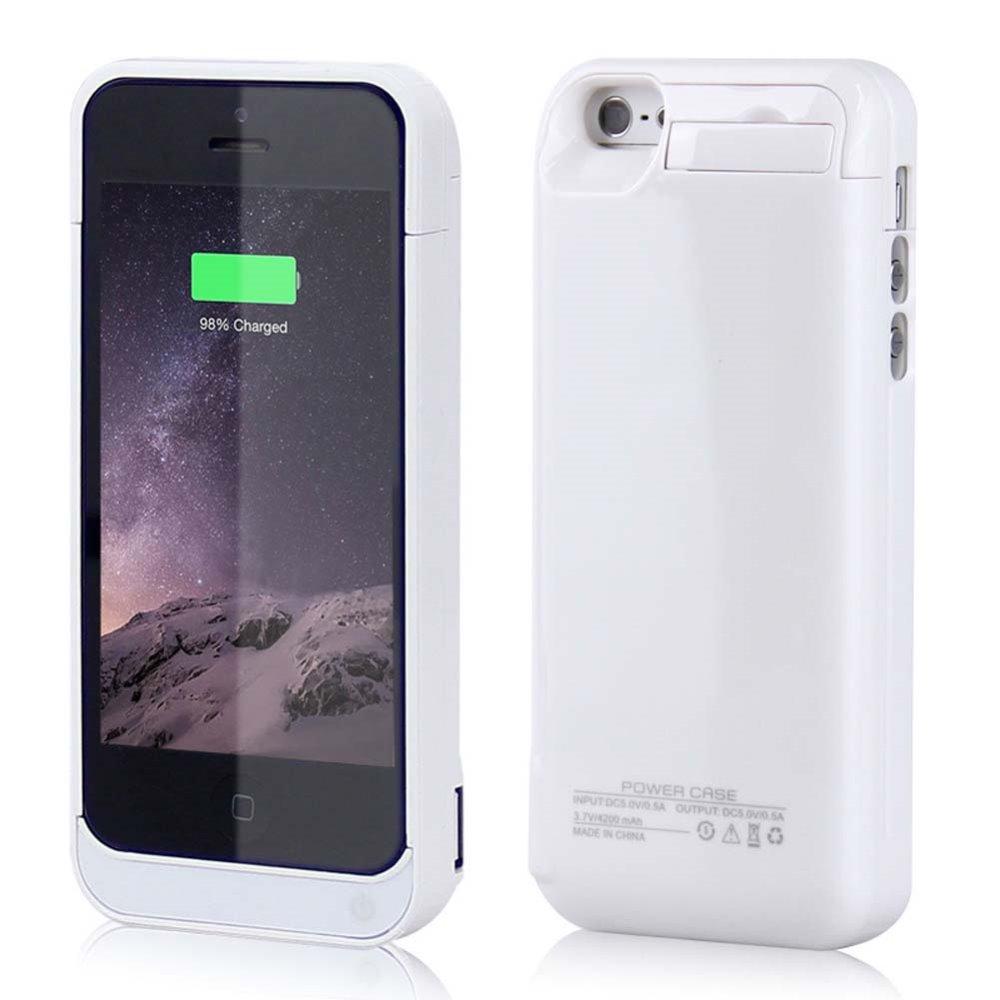 bilder für Heißer verkauf 4200 mah Externe Pack Batterie Energienbank-ladegerät Fall Abdeckung für 5/5 s 5c SE Farbe weiß zu wählen Freeshipping