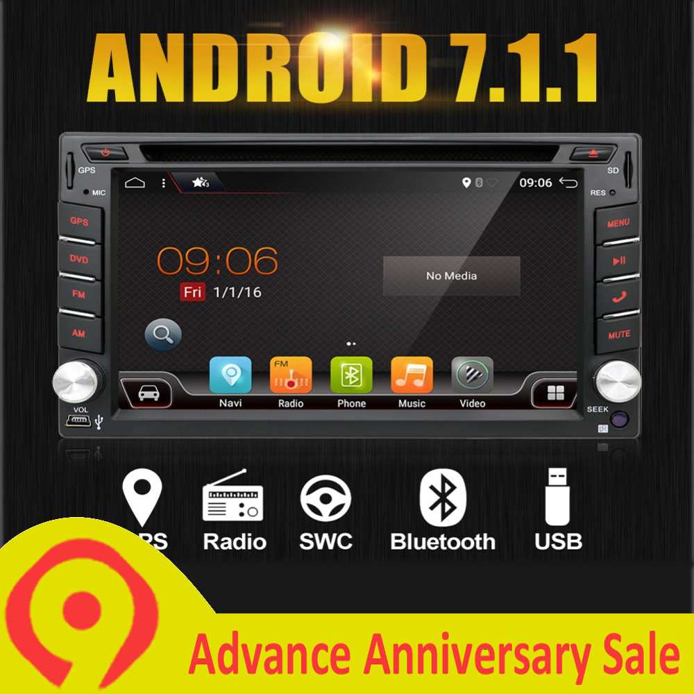 Flash Deal Android 7.1 Quad Core With Car DVD Player GPS Navi For Toyota RAV4 Corolla Hilux For Universal Car Radio Touch Screen Car Stereo 0