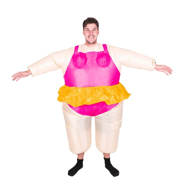 Halloween Pak.Us 35 0 Opblaasbare Ballerina Kostuum Funny Party Blow Up Halloween Pak Mannen Club Bar Outfits T Rex Fancy Dress Stag Night Carnaval Tonen In