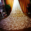 2017 White Cathedral Veils Wedding Veils 5m Lace Bridal Veils Beaded Applique Wholesale New veu de noiva Wedding Accessories