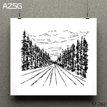 AZSG Forest Road Clear Sky Stamps/Seals For DIY Scrapbooking/Card Making/Album Decorative Silicone Stamp Crafts
