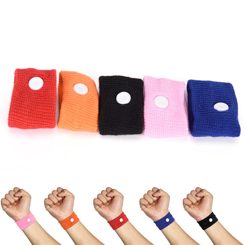 1Pc Wrist Band Anti Nausea Wristbands Sickness Car Motion Sea Sick Ship Plane Cotton Adjustable Travel Reusable