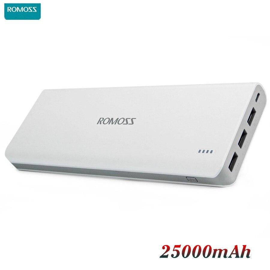 imágenes para Romoss sense 9 25000 mah banco de la energía 25000 mah cargador de batería externa de carga powerbank portátil con lcd pover poverbank