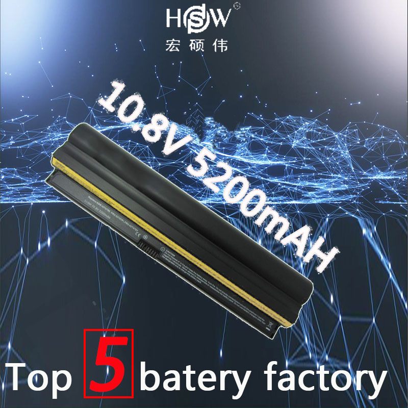 HSW 6cells 5200mah rechargeable laptop battery for 42T4889 42T4891 42T4893 42T4894 FOR ThinkPad X100 X100E X120E bateria akku