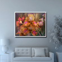 5D DIY full diamond painting butterfly flower embroidery rhinestone cross stitch home decoration