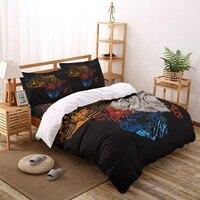 Африканская Карта набор постельного белья наволочка черная четырехсекционная крышка постельных принадлежностей роскошный высококачеств