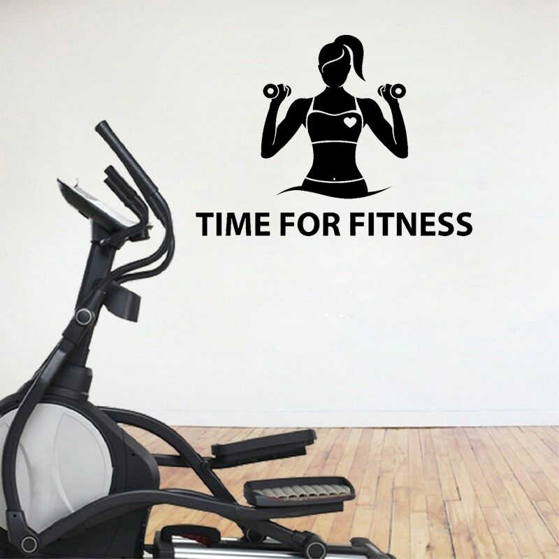 Yoja 70cm 50 1cm Fitness Girl Motivation Gym Healthy Lifestyle Quote Pvc Hone Decor Wall Sticker W1 1091 Aliexpress
