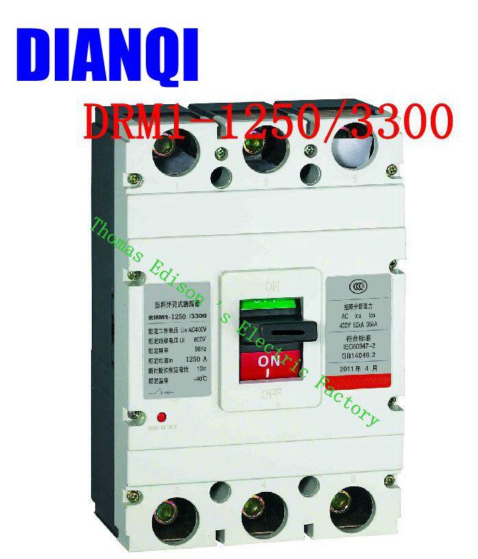 CM1-1250/3300 MCCB 800A 1000A 1250A boîtier moulé disjoncteur CM1-1250 disjoncteur à boîtier moulé