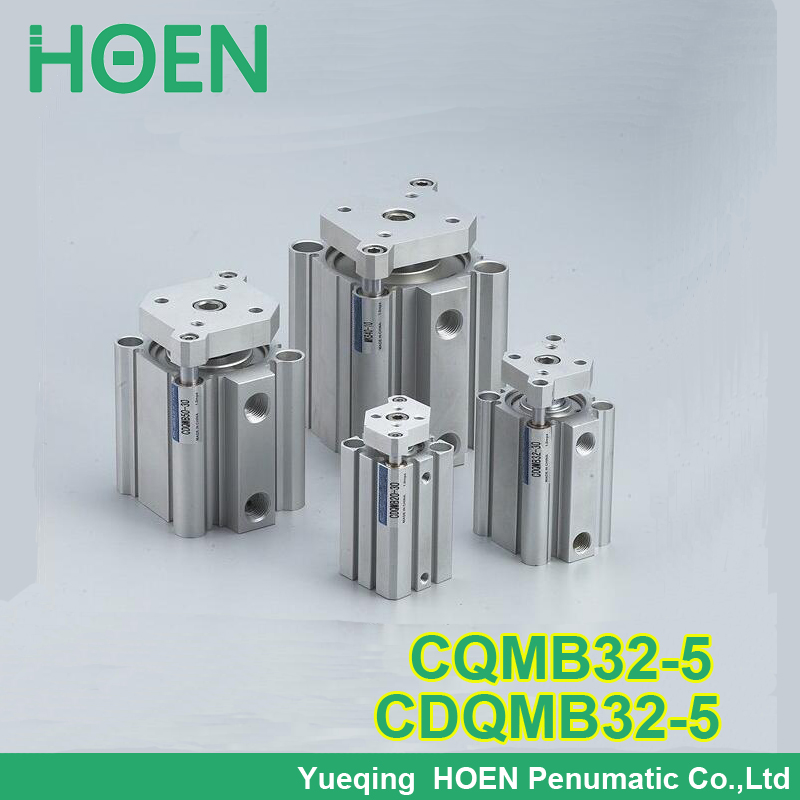 CQMB32-5 CDQMB32-5 CQM series 32mm bore 5mm stroke compact guide rod cylinder double-acting single rod pneumatic cylinders general model cxsm32 50 compact type dual rod cylinder double acting 32 40mm