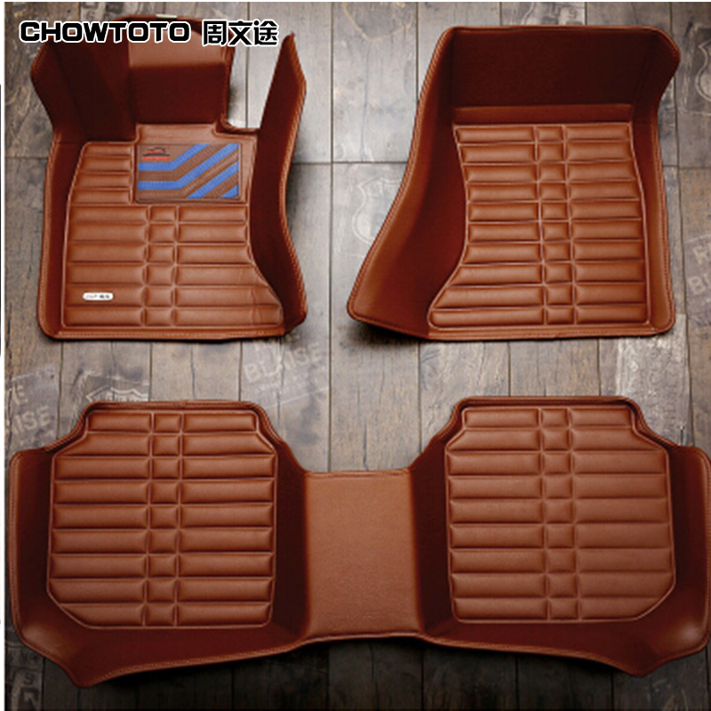 CHOWTOTO AA Special Floor Mats For Ford Mondeo S-MAX wear-resisting Durable Leather Carpet For Mondeo/S-MAX
