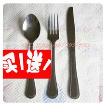 0 Knife and fork set tableware steak knife and fork kit knife fork spoon stainless steel spoon