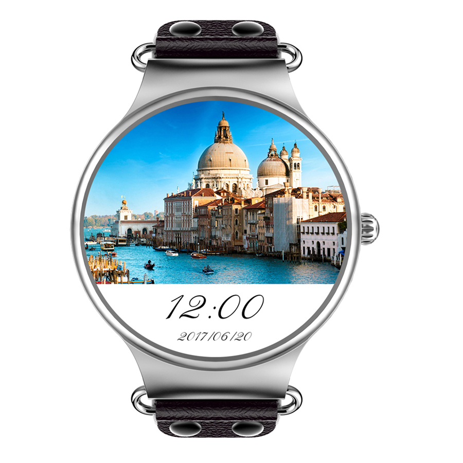 KW98 Smart Uhr 3g SIM Karte Android 8 gb GPS Armbanduhr Telefon MTK6580 Quad Core 1,39 zoll Herz Rate Monitor schrittzähler PK Miband