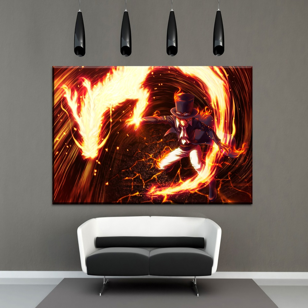 Swell Us 3 49 49 Off 1 Panel Canvas Painting Wall Art Home Decor Living Room Anime One Piece Fire Dragon And Sabo Pictures Modern Home Decor Artwork In Download Free Architecture Designs Scobabritishbridgeorg