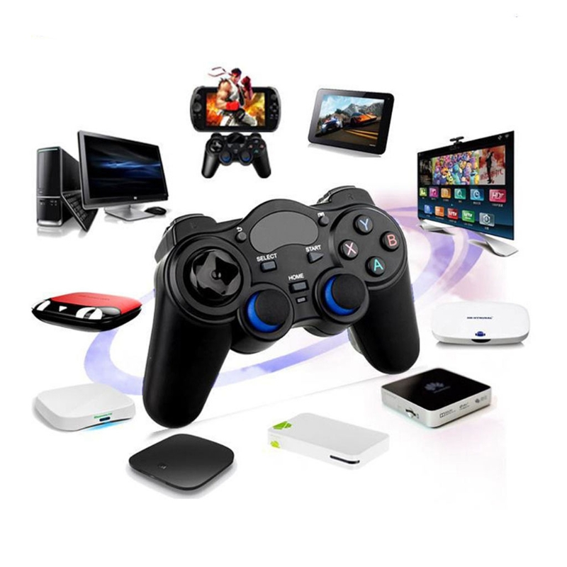 High Quality 2.4G Wireless Controller Gamepad + Micro USB OTG Converter For PS3 Android Phone TV