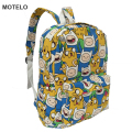 Lovely Anime Adventure Time Printing Canvas Backpack Korean Styles of School Bags  -D