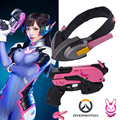 Free shipping handmade Jeu Overwatch D. Va Casque PVC Cosplay Props Arme OW Prop Hana Song