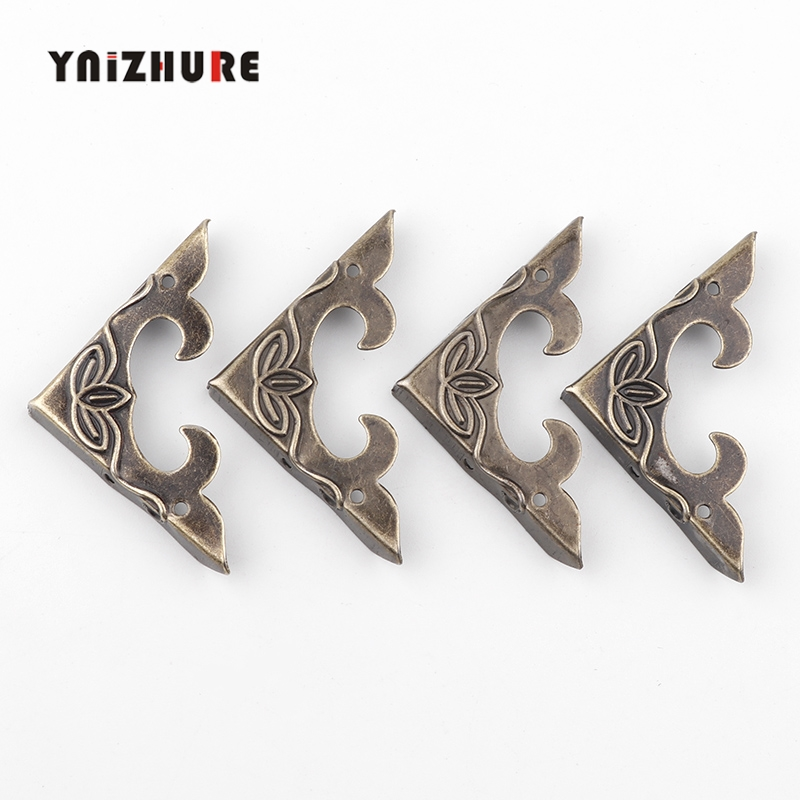 12pcs/set Antique Bronze Corner Protector Metal Storage Protection Jewelry Wine Gift Wood Box Wine Packaging Retro Style Corner