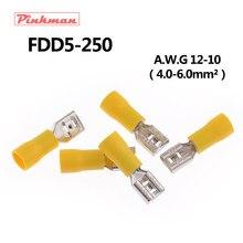 Borne à sertir électrique isolée femelle | Pour connecteurs 4-6mm2, connecteur de fil de câble AWG 12-10