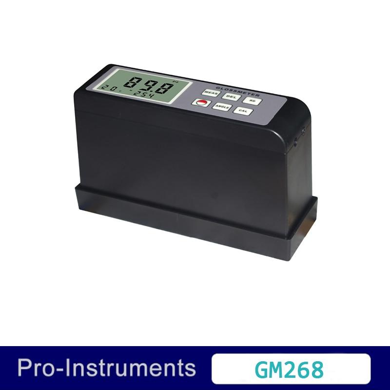 Landtek GM268 pintura inspección brillo superficial Vancometer 0,1-200Gu Multi-ángulo electrónico medidor de brillo pintura 20 60 85 grados