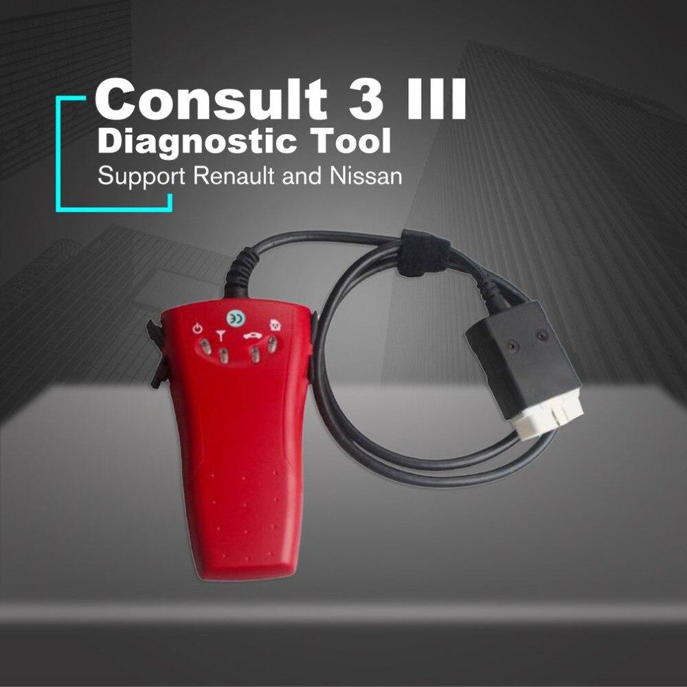 2 in 1 Diagnostic Tool For Renault CAN Clip V172 Consult 3 III Nissan Scanner Auto Self-diagnostic Tool Car Vehicle Repair op com car vehicle diagnostic tool black