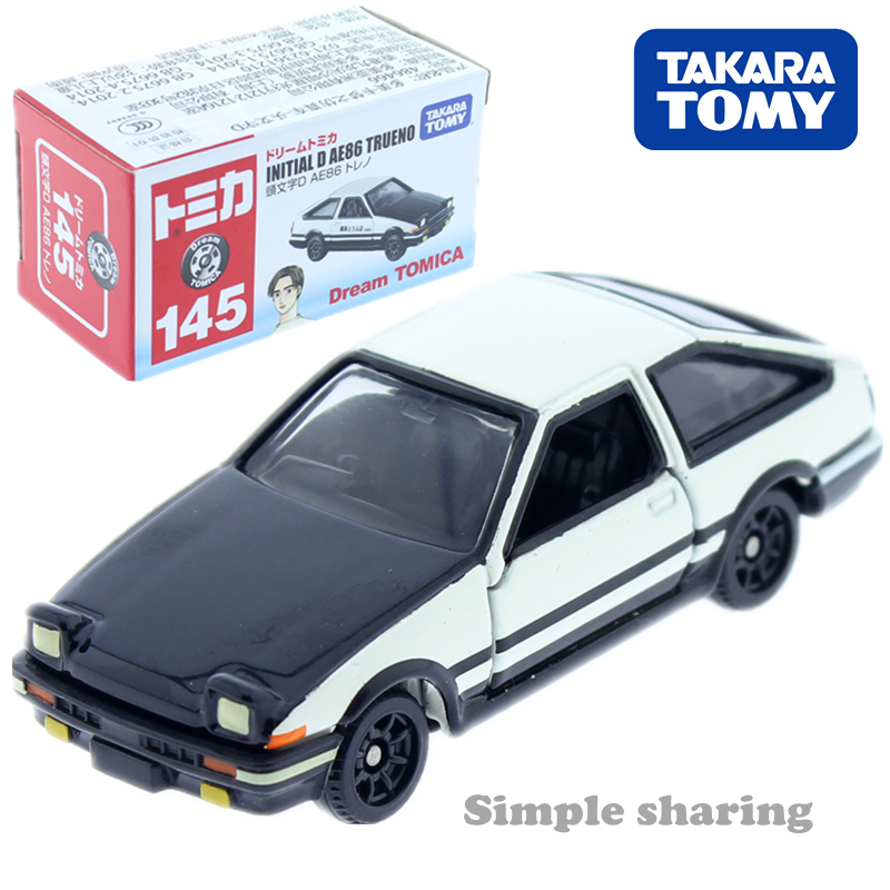 Tomica Dream NO. 145  Initial D  AE86 TRUENO toyota Takara Tomy Diecast metal Car in toy vehicle model Collection anime