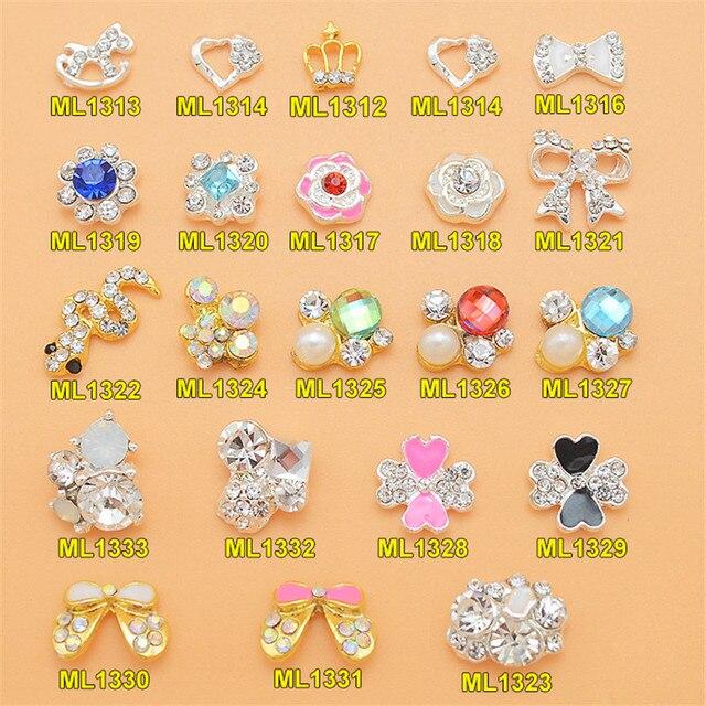 10Pc Lot Bridal Wedding Nail Jewelry 3D Nail Art Glitter Rhinestone Nail  Charm Gem ornaments alloy diamond crown Trojan snake caae005020ee