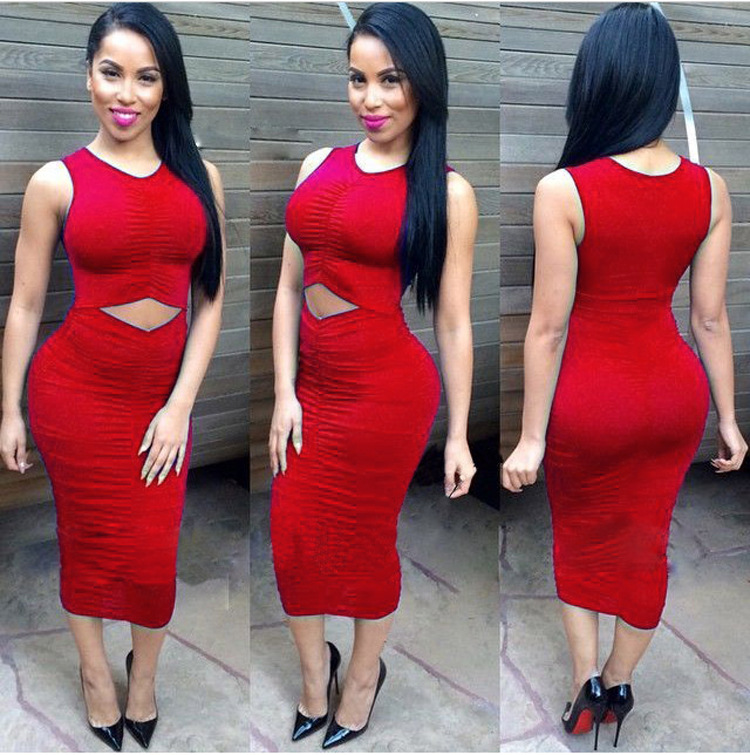 7412a45ded8 New Arrival 2015 Sexy Hollow out Bodycon Elastic Bandage Dresses Tight Nicki  Minaj Dress Robe Femme Kleider Costume-in Dresses from Women s Clothing on  ...