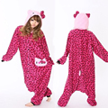 New Kitty Cat Cosplay Costume Animal Suits Adults Onesies Pyjamas Woman Winter Polar Fleece Pajamas Sleepwear Christmas Party