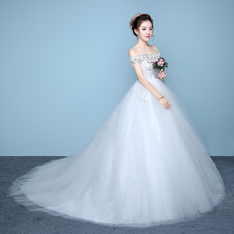 It\'s YiiYa Off White Red Sleeveless Boat Neck Wedding Frock ...