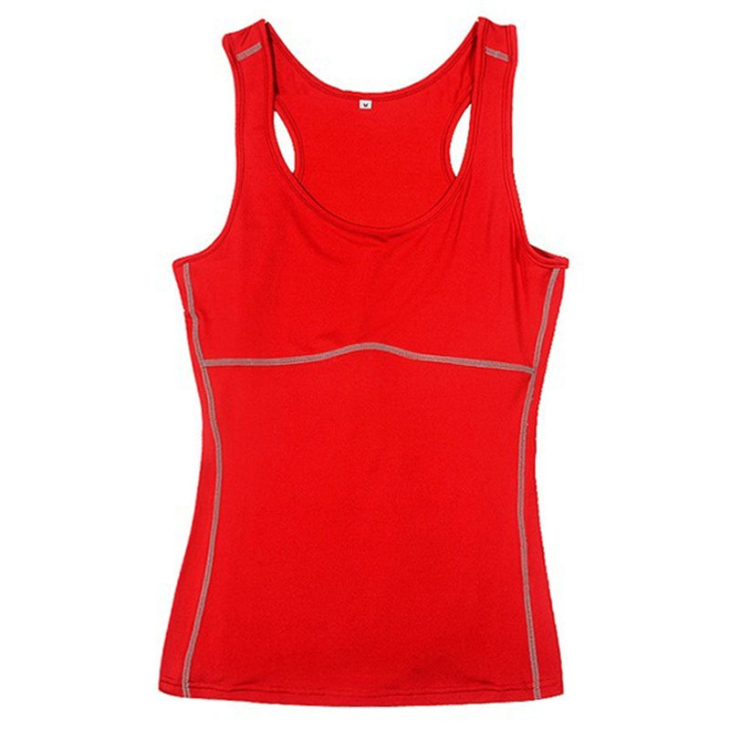 Friendly Women Compression Under Base Sports Wear Yoga Tank Tops Ladies Gym Skins Clothes Running Cami Vest