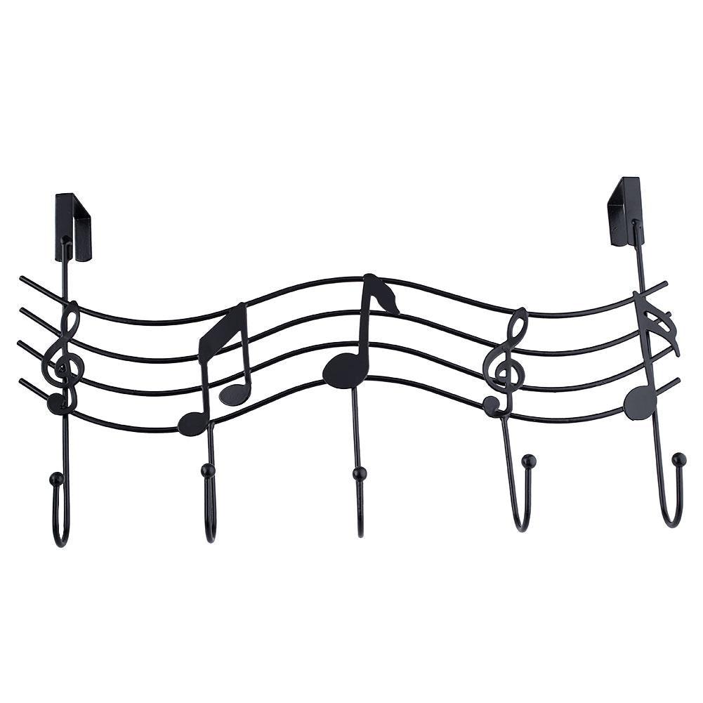 Music Notes Wall Hook Door Hanger Made of Iron