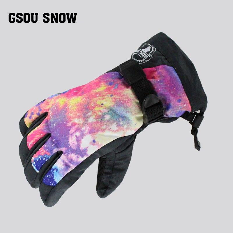 Prix pour Gsou neige Gants De Dames De Ski Adulte Femelle de protection imperméable coupe-vent chaud ski gants