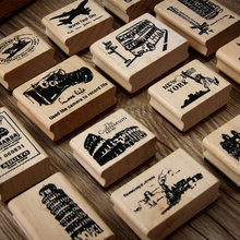 Vintage Bus Kiosk European Creative stamp DIY wooden rubber stamps for scrapbooking stationery scrapbooking standard stamp(China)