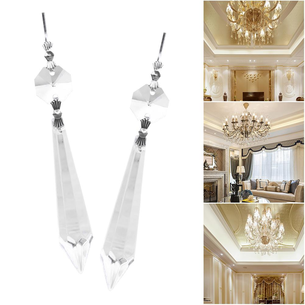 10X Chandelier Clear Crystal Ball Lamp Curtain Prisms Hanging Drop Pendant Decor