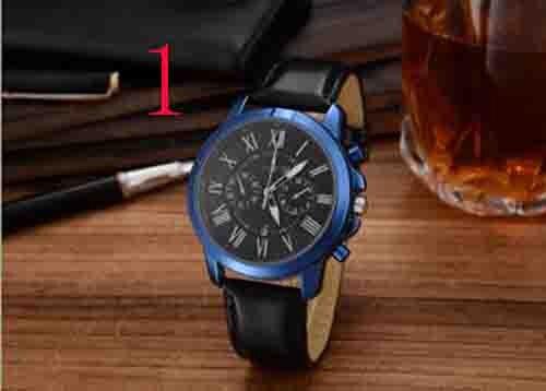 Römischen Ziffern Männer Mode Lederband Geschenk Armbanduhr Dropshipping zegare