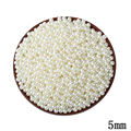 5MM ABS Ivory Imitation Pearl Round Hole Beads 1000pcs/lot Wholesale Plastic Ball European Spacer Beads For DIY Jewelry Making
