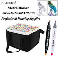 Touchfive 168 Farben Malerei Kunst Mark Stift Alkohol Marker Stift Cartoon Graffiti Kunst Skizze Marker für Designer Kunst Liefert