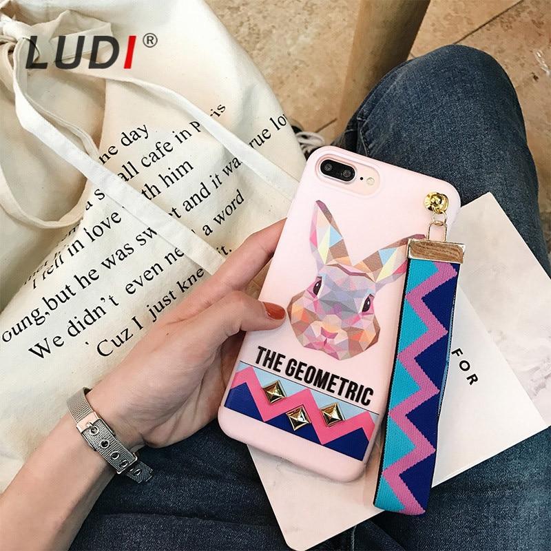 LUDI 3D Europe Animal Tiger & Rabbit Stud Rivet Ձեռքի - Բջջային հեռախոսի պարագաներ և պահեստամասեր - Լուսանկար 2